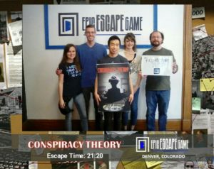 epic escape game denver escape room conspiracy theory