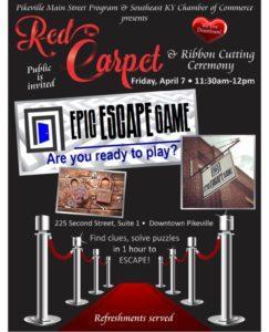 Epic Escape Game Pikeville Red Carpet
