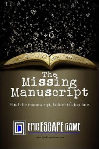 epic escape game escape room englewood colorado the missing manuscript